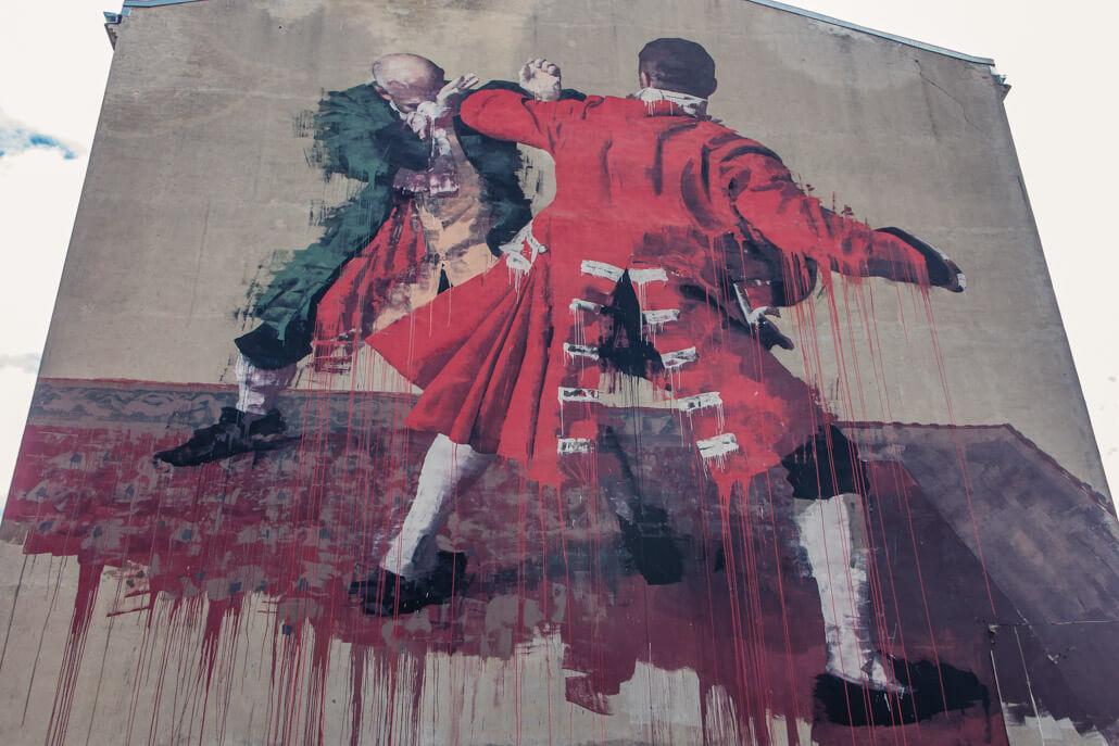 Random Mural in Warsaw Poland