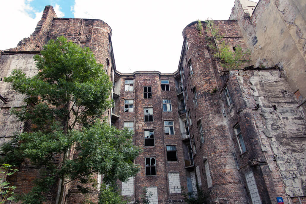 Visit Warsaw Ghetto and see what's left of the Jewish buildings in Warsaw Poland