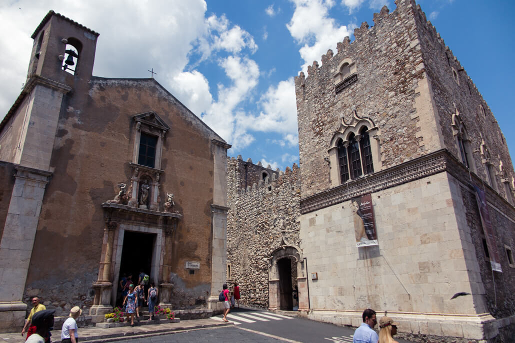 Santa Caterina Church and Palazzo Corvaja Taormina Sicily
