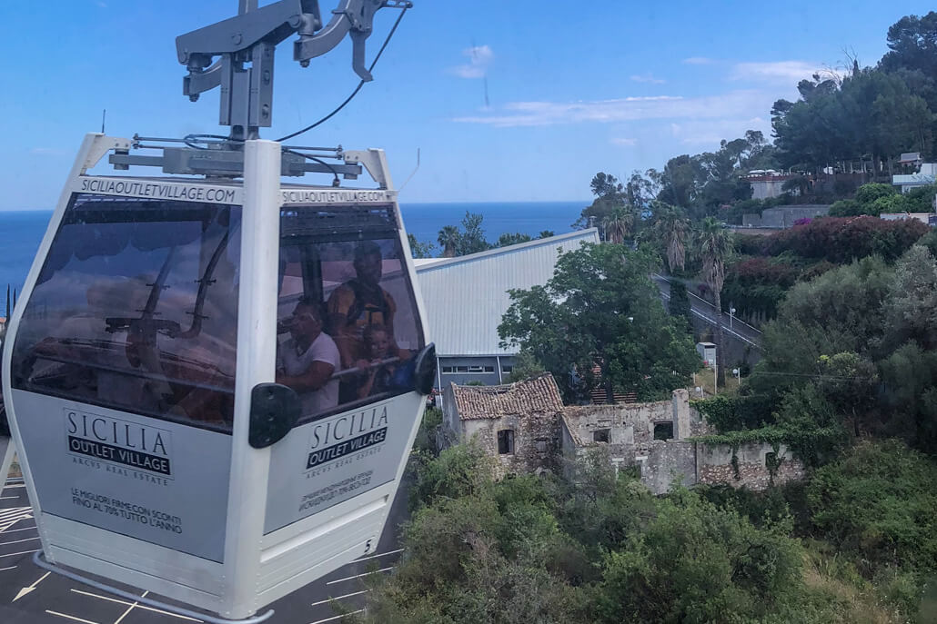 Taormina Cable Car down to the beach