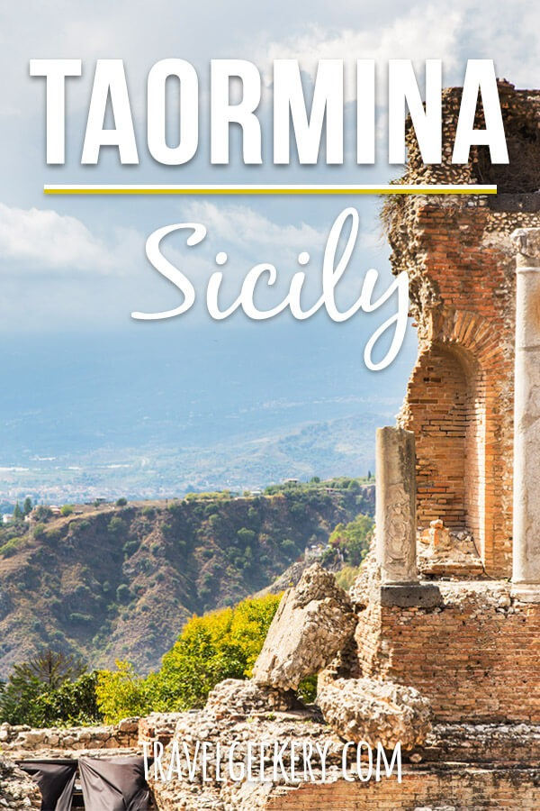 Taormina Sicily Italy: Top Things to Do in Taormina, one of the best places to visit in Sicily. All can be managed in one day! See our itinerary, in which we covered the Ancient Greek Theatre, the main boulevard Corso Umberto, the famous Bam Bar with its granitas and the beaches of Taormina! #taormina #sicily #italy #beach #sightseeing