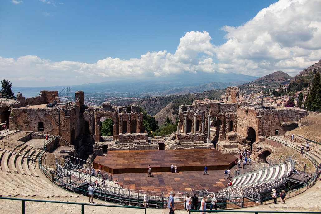 Ancient Greek Theatre in Taormina Sicily