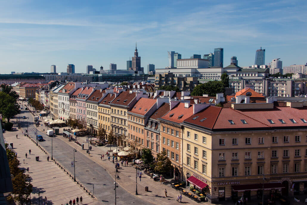 View of Nowy Swiat Road Capital Warsaw