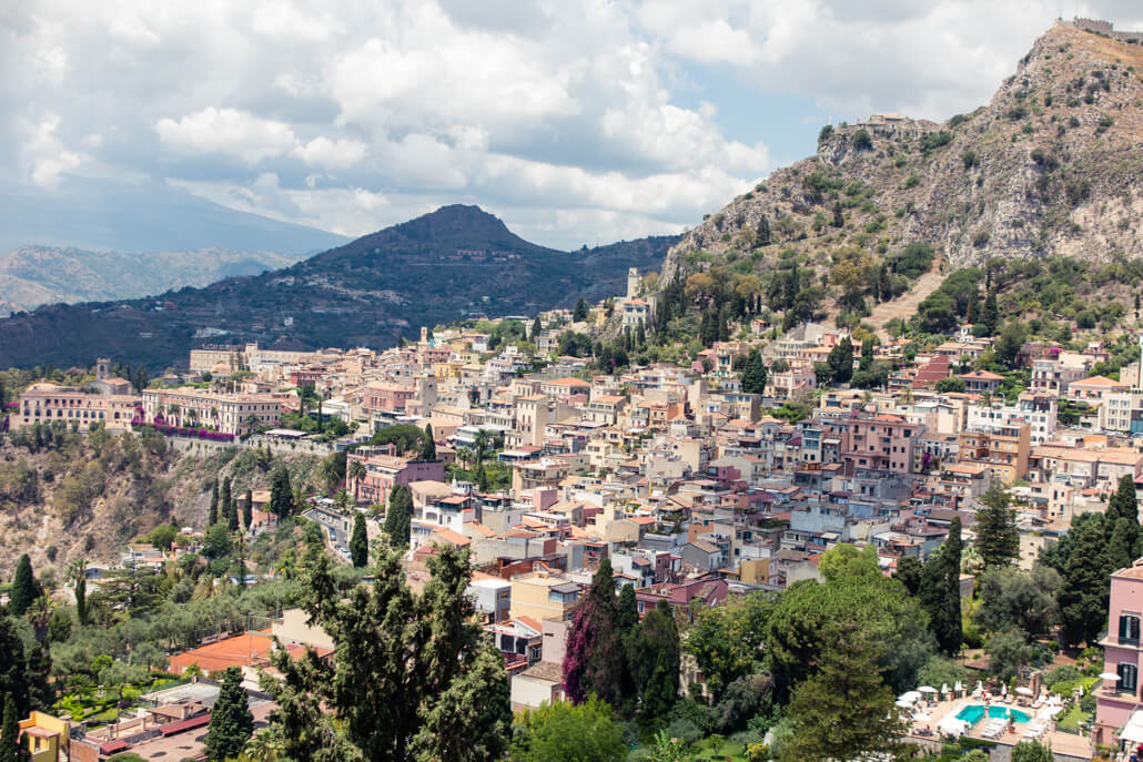 View of Taormina Sicily