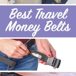 The best travel money belt: We reviewed 10 travel money belts for women and men, be it a fanny pack or under clothes money pouch. See why a good travel money belt is an essential part of travel gear for your trips. Includes RFID money belts to protect your identify information too. Keep your cash and passport safe with these anti-theft money belts and don't let pickpockets stand any chance. #moneybelt #travelsafety #antitheft #productreview #review