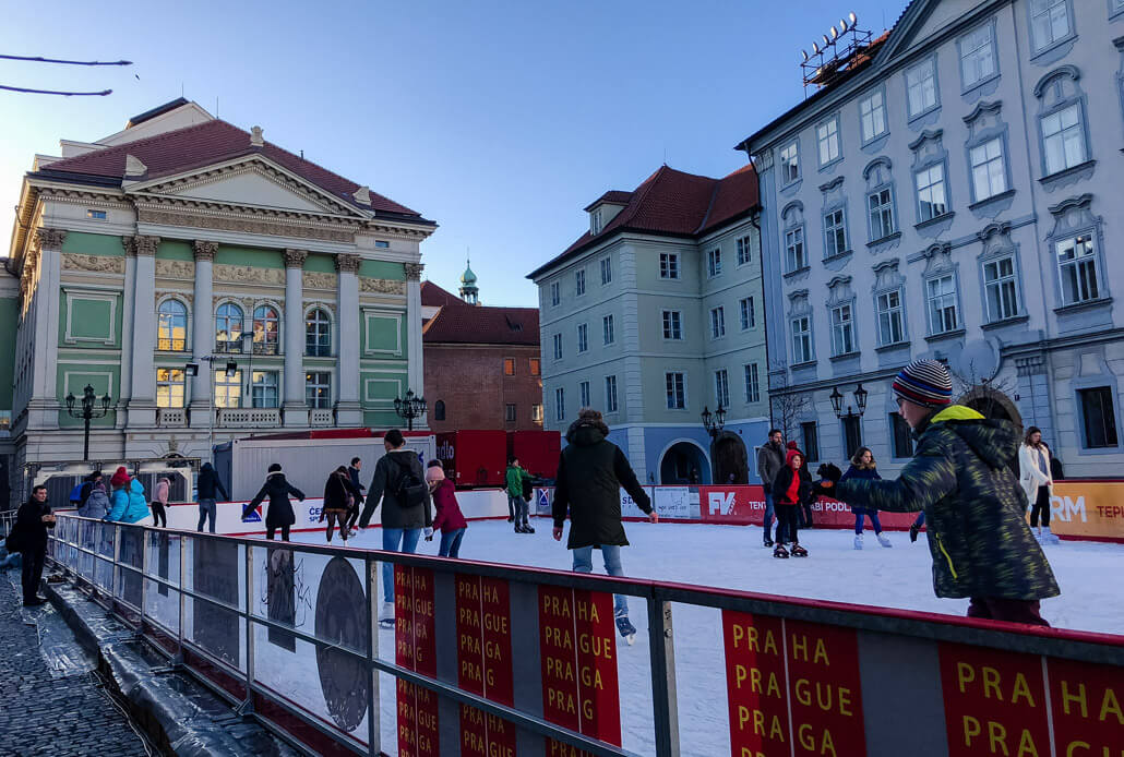 Winter Prague Skating Rink