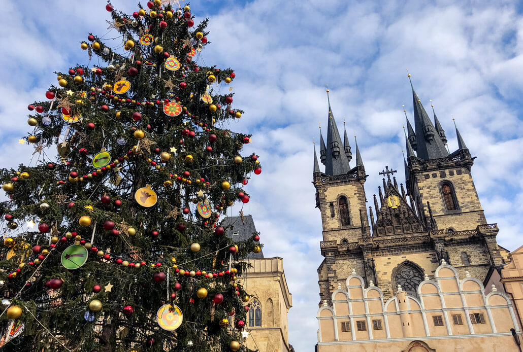 Christmas tree at Prague's Old Town Square
