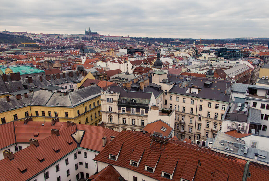 No snow on Prague's rooftops
