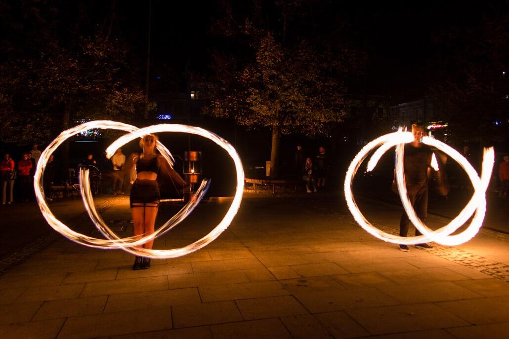 Fire show in Gorlice