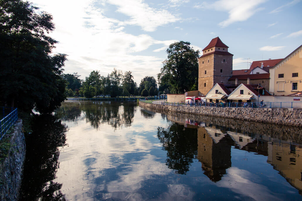 Iron Lady Tower by the River in Ceske Budejovice
