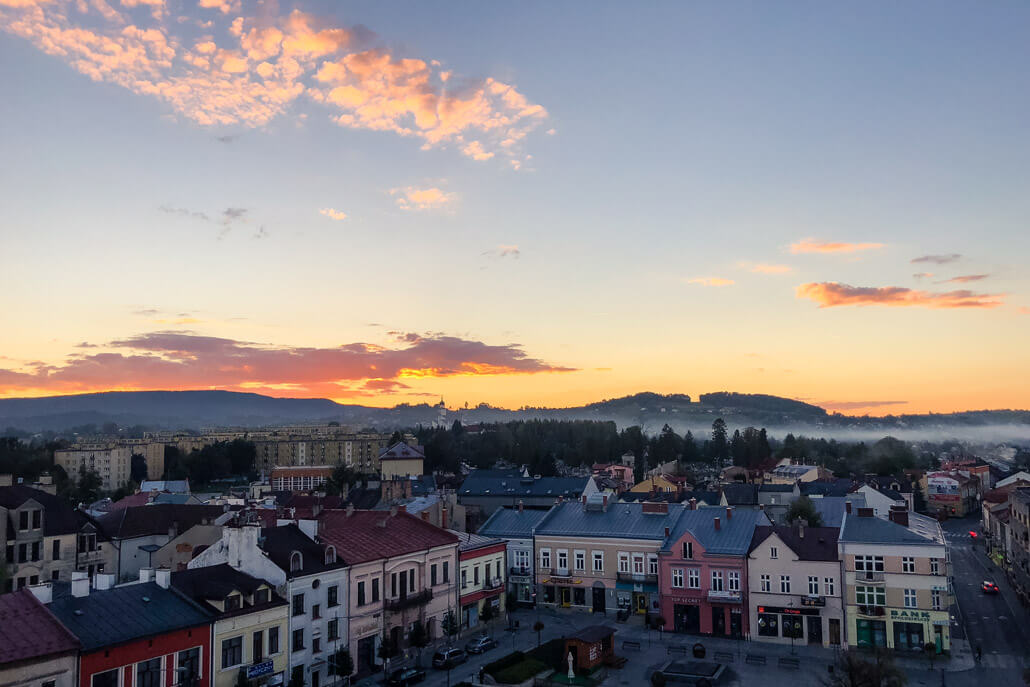 Sunset over Gorlice Poland