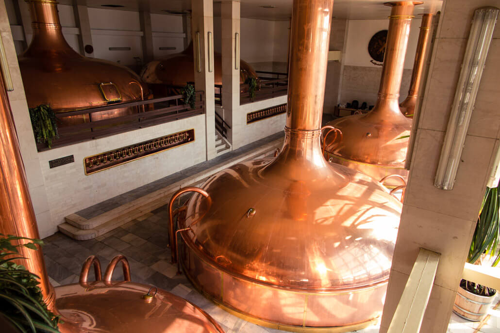 Tanks in Budvar Brewery