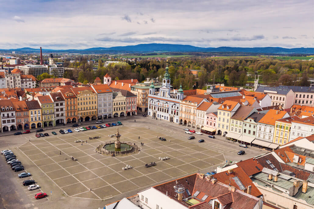 View from Black Tower Ceske Budejovice