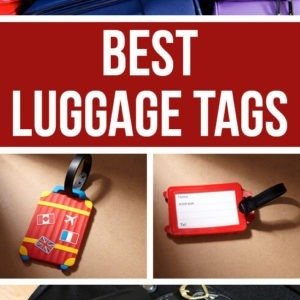 Here's an overview of the best luggage tags for international travel, but actually for any travel. Form personalized luggage tags to funny and cute ones, we focus also on the material (leather and such) and design - Kate Spade luggage tags included. Have your suitcase stand out at the airport! #luggagetags #luggagetag