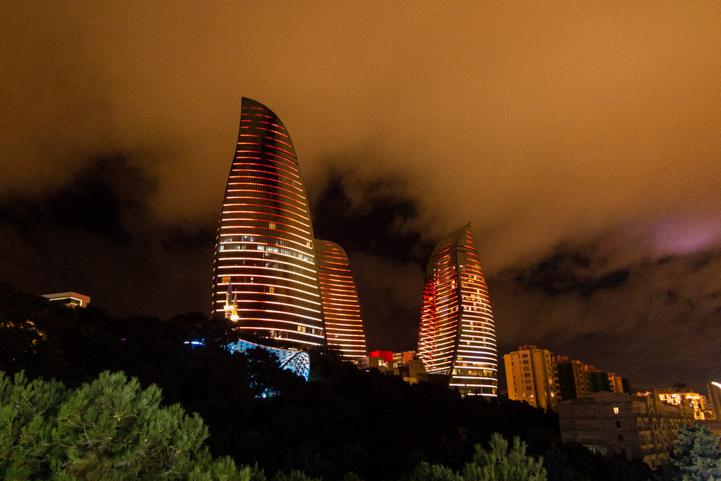 Baku Flame Towers at Night