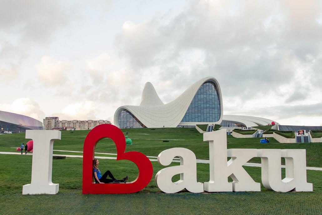 I Love Baku Sign
