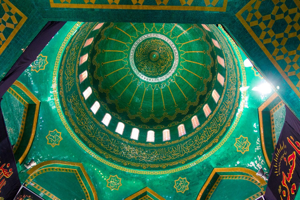 Inside Bibi Heybat Mosque on the outskirts of Baku Azerbaijan