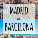 Should you visit Barcelona or Madrid? See how both cities compare and which one is better for your Spain Travel. Both beautiful, Madrid and Barcelona each have amazing architecture and food.. but each stands out in a different way. Click to read if you want to travel to Spain. #madrid #barcelona #spaintravel #cities