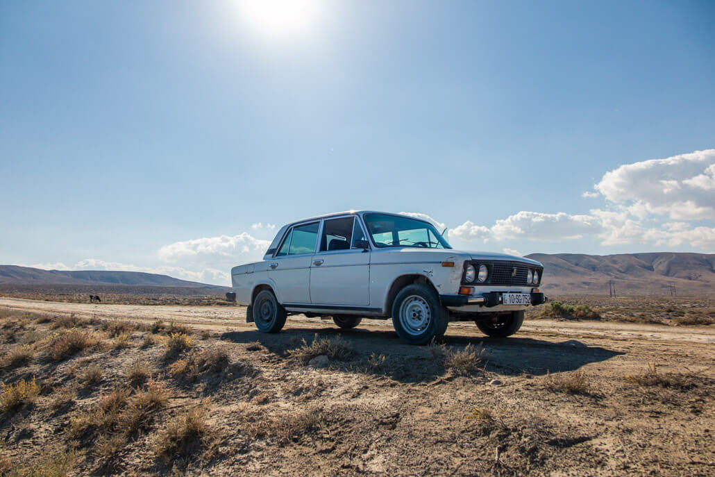 Old Lada Car in Gobustan