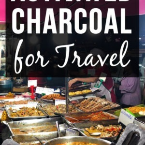 Activated charcoal for travel: While there are many activated charcoal uses such as for stomach, the teeth etc., we'll focus on activated charcoal use for traveler's diarrhea. The article explains what is activated charcoal, why activated charcoal capsules are best for travelling and where to buy activated charcoal. #activatedcharcoal #travel #diarrhea #travelersdiarrhea #bloating #foodpoisoning