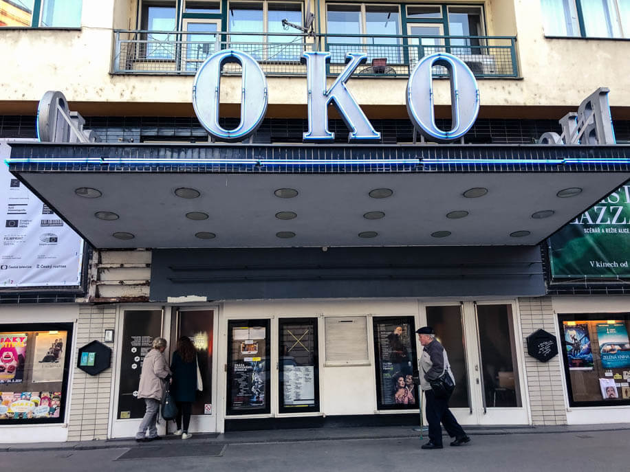 Bio Oko Movie Theater in Letná Prague