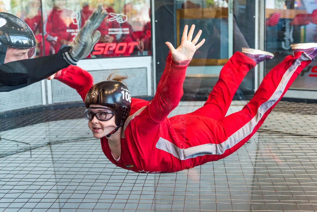 Indoor Sky Diving in Prague