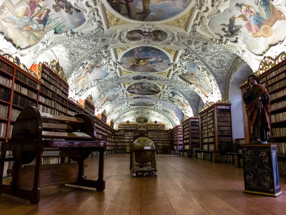 The magnificent Theological Hall of Prague Strahov Library