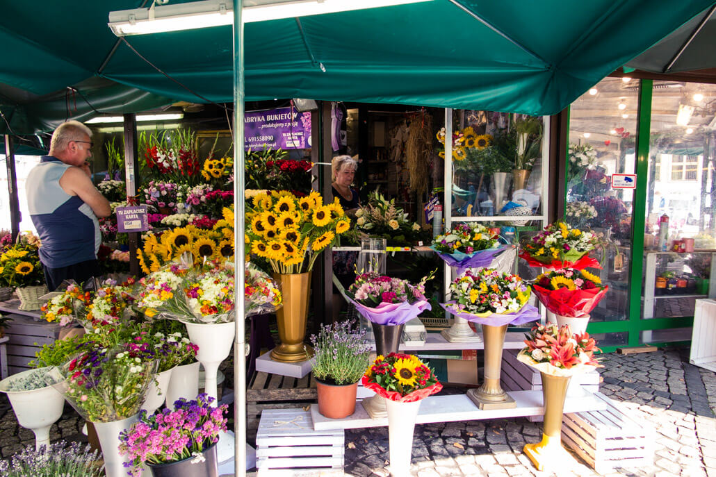 Flower stall at Salt Square Wroclaw