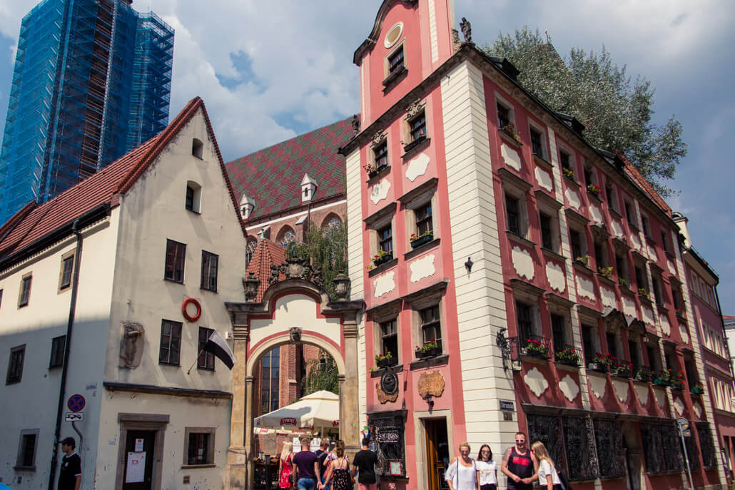 Hansel & Gretel Houses in Wroclaw Poland