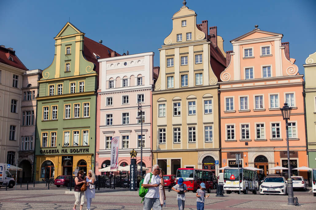 Colorful houses on Salt Square Wroclaw