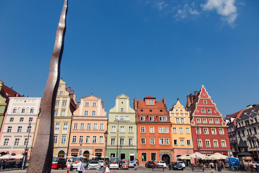 Wroclaw Salt Square houses