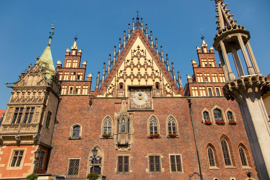 Wroclaw Old Town Hall Close up