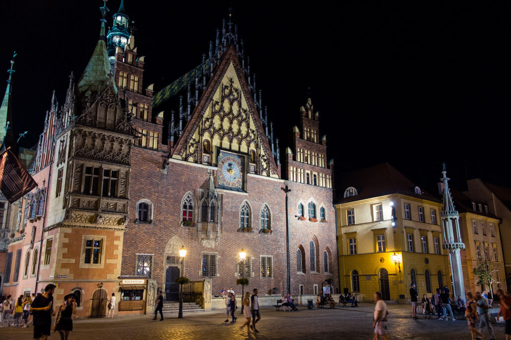 Wroclaw Old Town at night