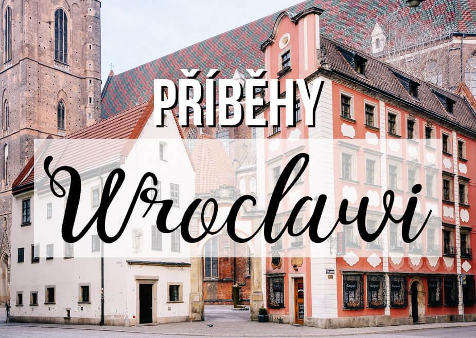 Staré město Wroclaw Polsko s textem Příběhy Wroclawi