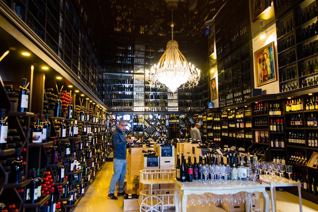 Inside Wine Gallery Shop Tbilisi