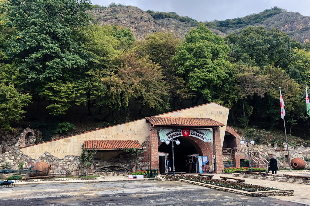 Entrance to the Khareba Winery in Georgia