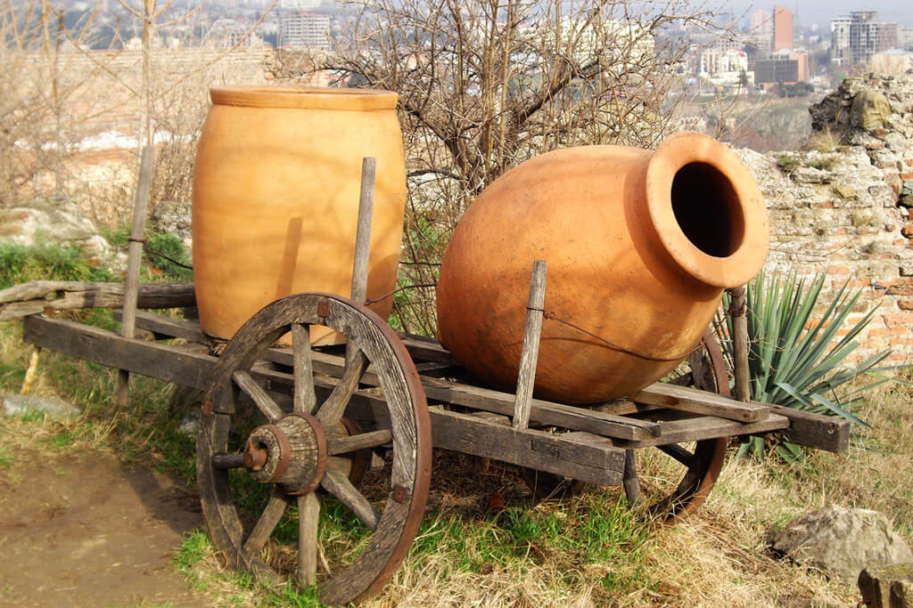 Qvevri, a clay pot used for wine fermentation in Georgia