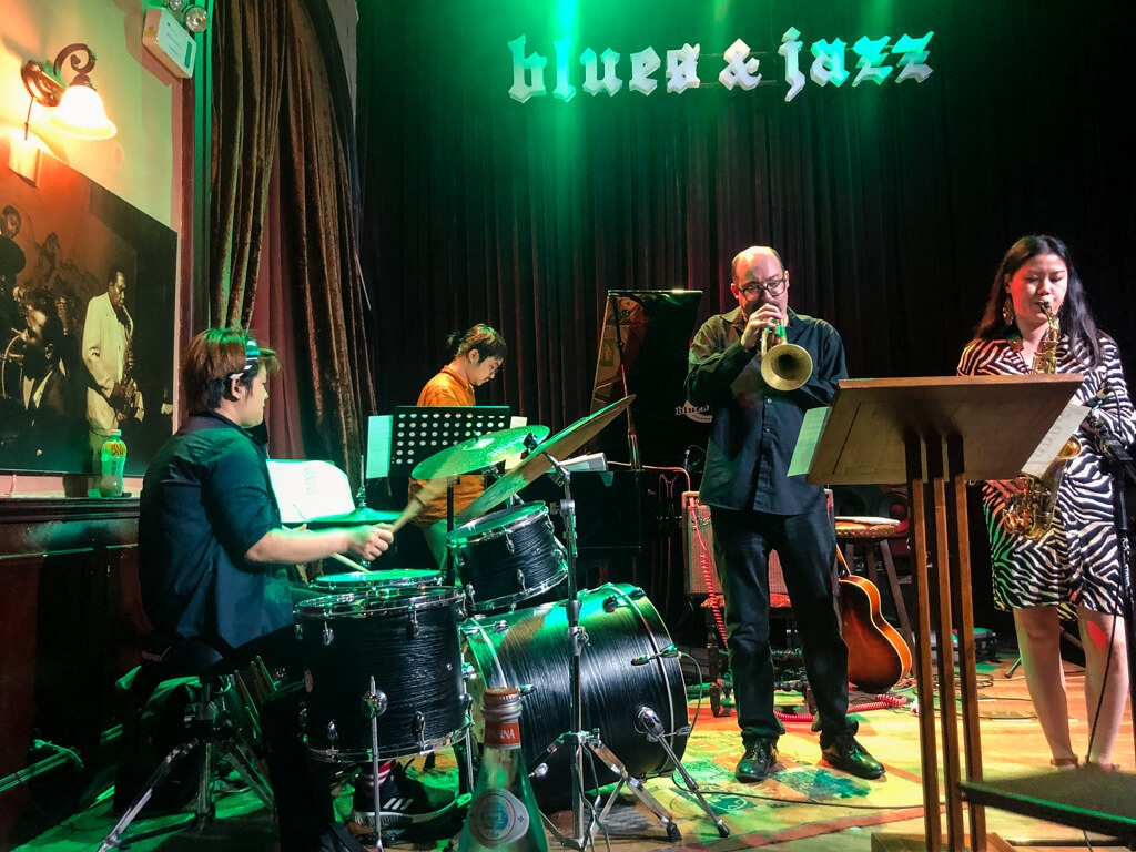 A performance in the House of Blues & Jazz, Shanghai