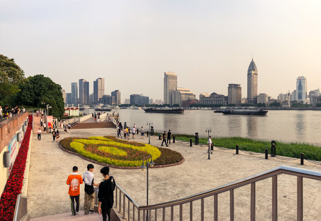 Shangai Huangpu River waterfront