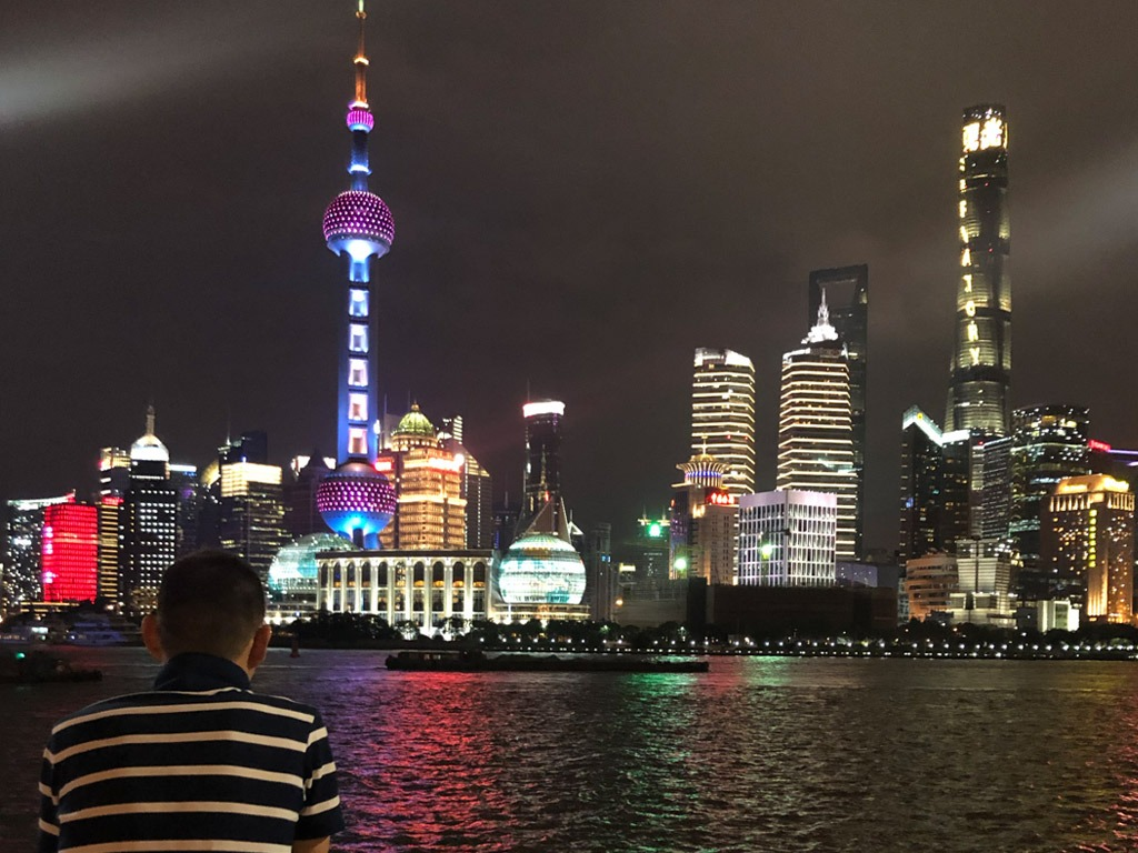 View from Shanghai's Bund at night