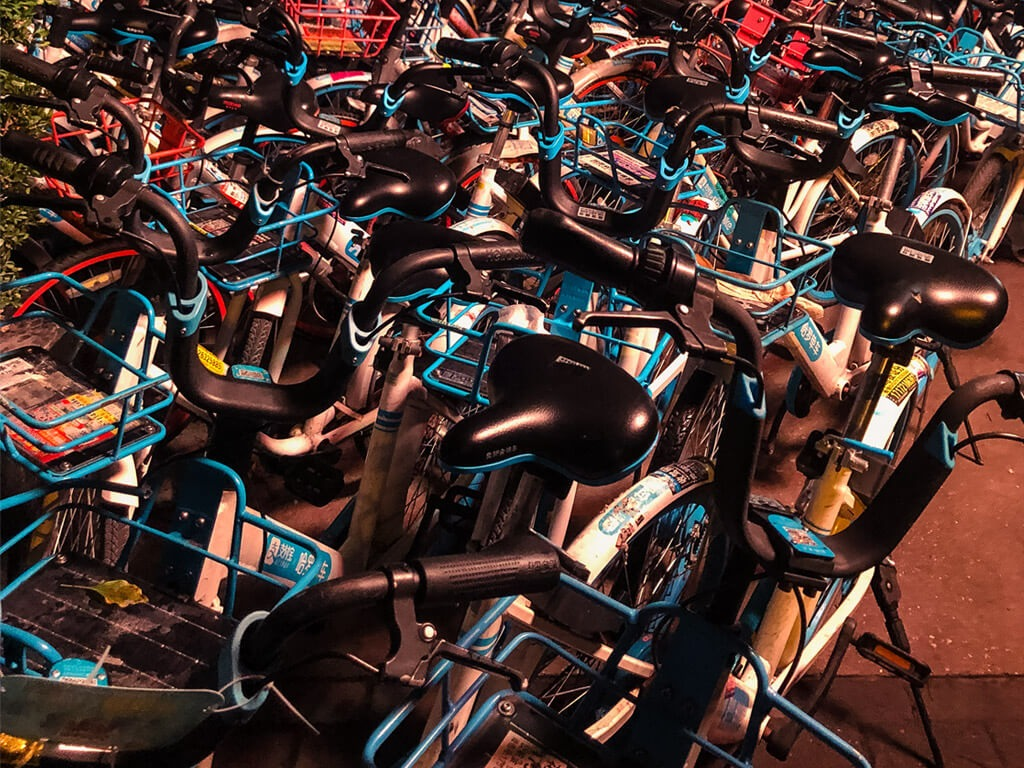 Shared bikes in China