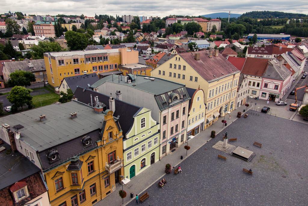 Výhled z věže frýdlantské radnice