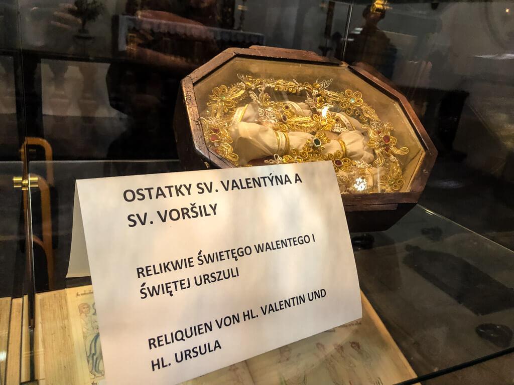 Ostatky sv. Valentýna v bazilice v Hejnicích