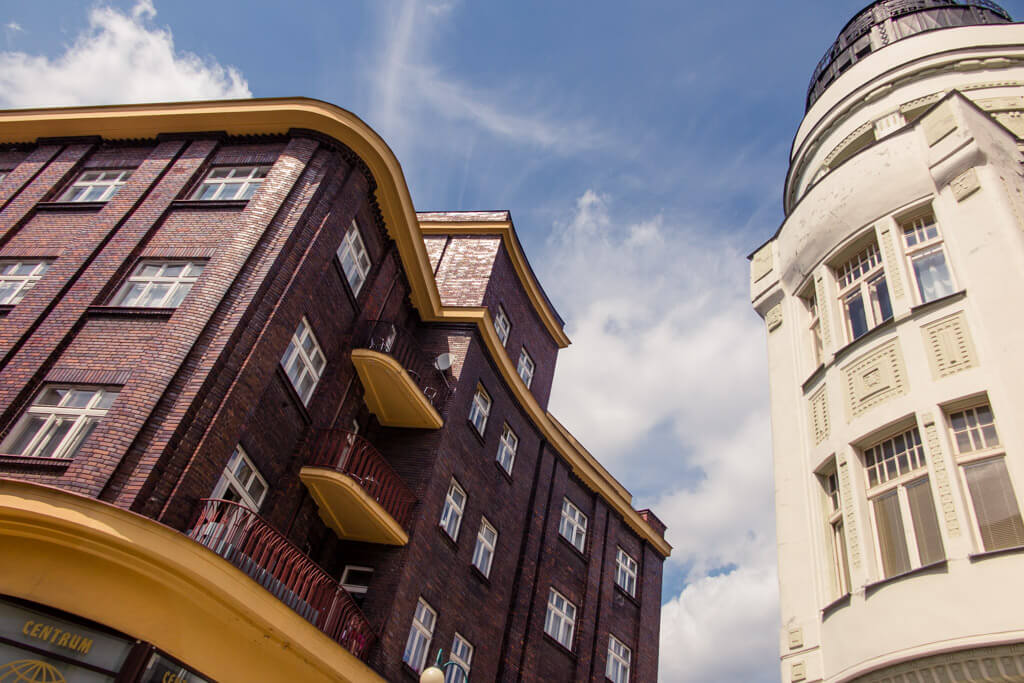 Budovy v Jablonci