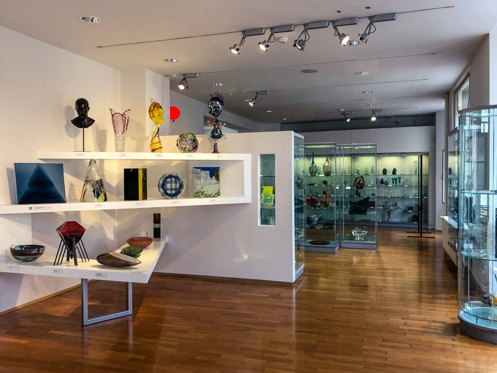 Interíér Muzea skla a bižuterie v Jablonci nad Nisou