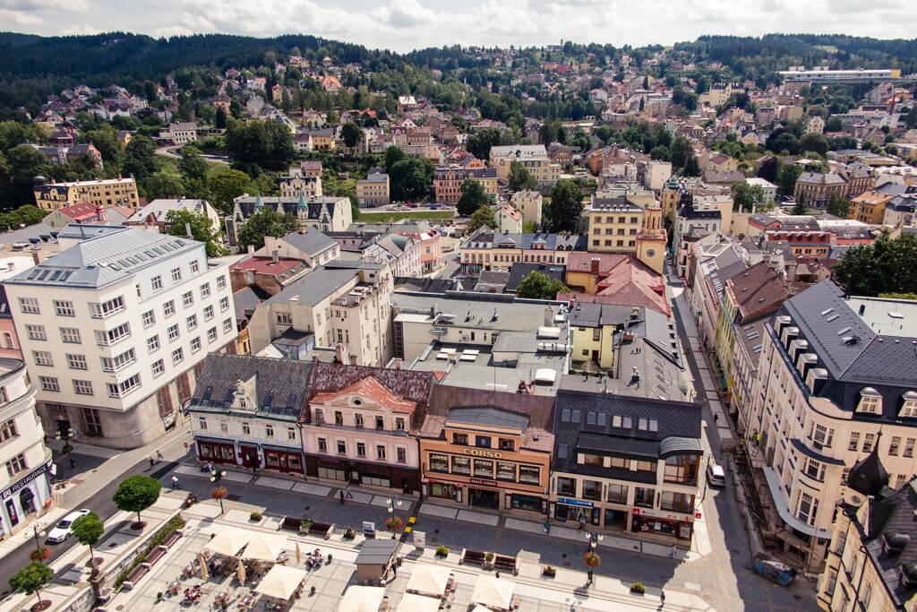 Výhled z jablonecké radnice