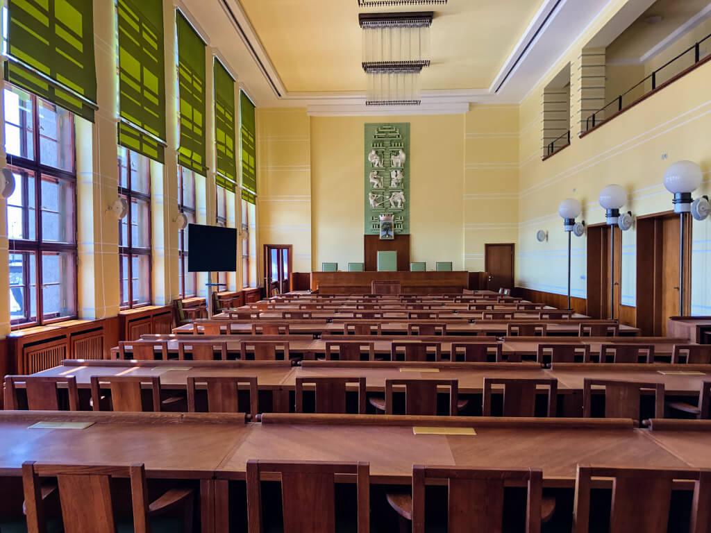 Zasedací místnost pro zastupitelstvo Jablonce
