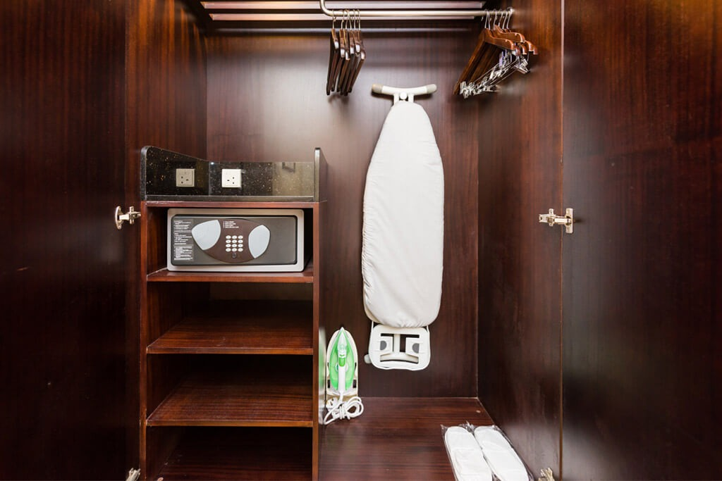 Hotel room closet