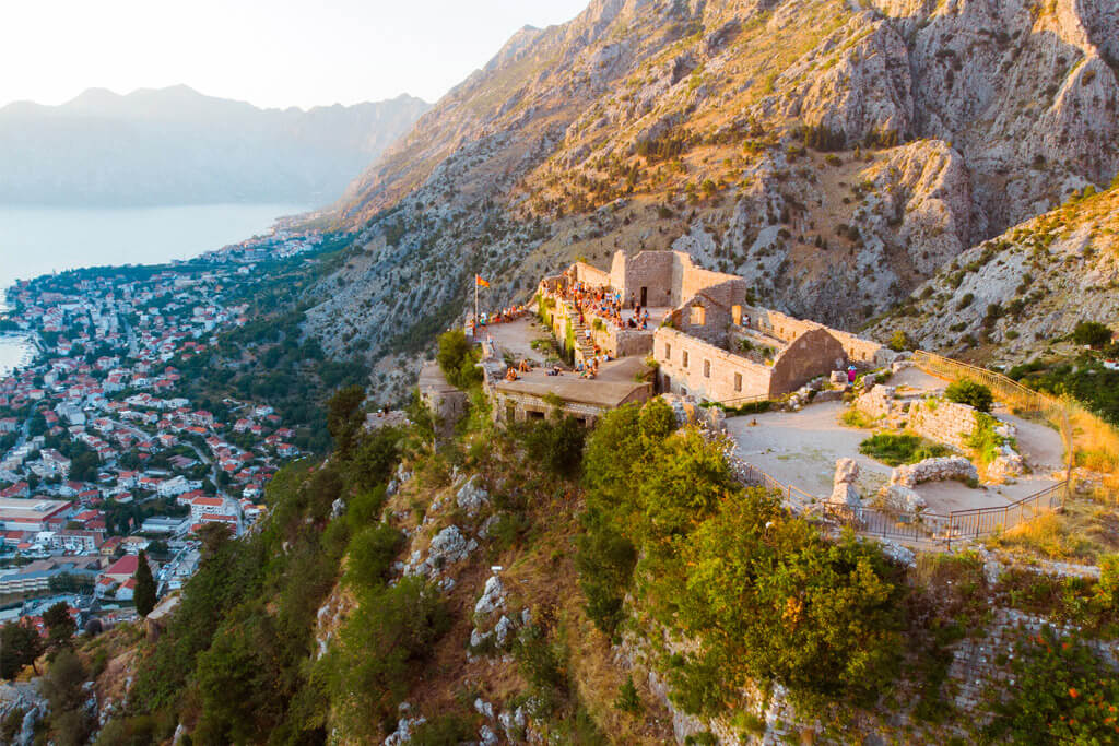 Kotor Fortress from above