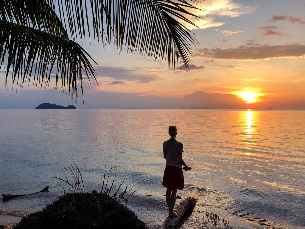 Watching sunset in Koh Phangan